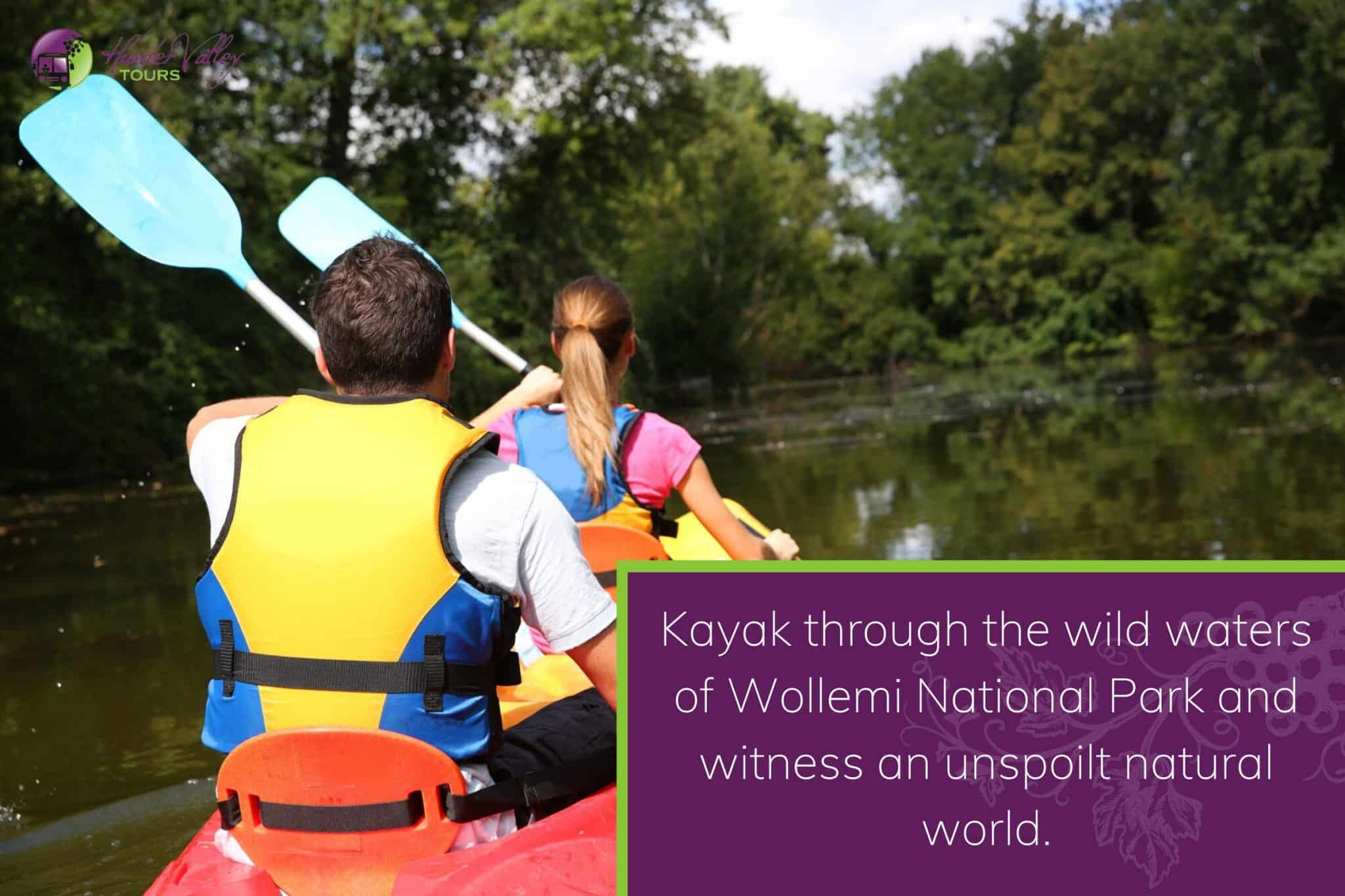 Kayak through the wild waters of Wollemi National Park