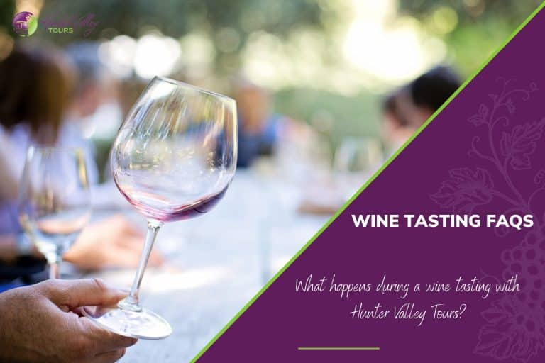 What happens during a wine tasting with Hunter Valley Tours