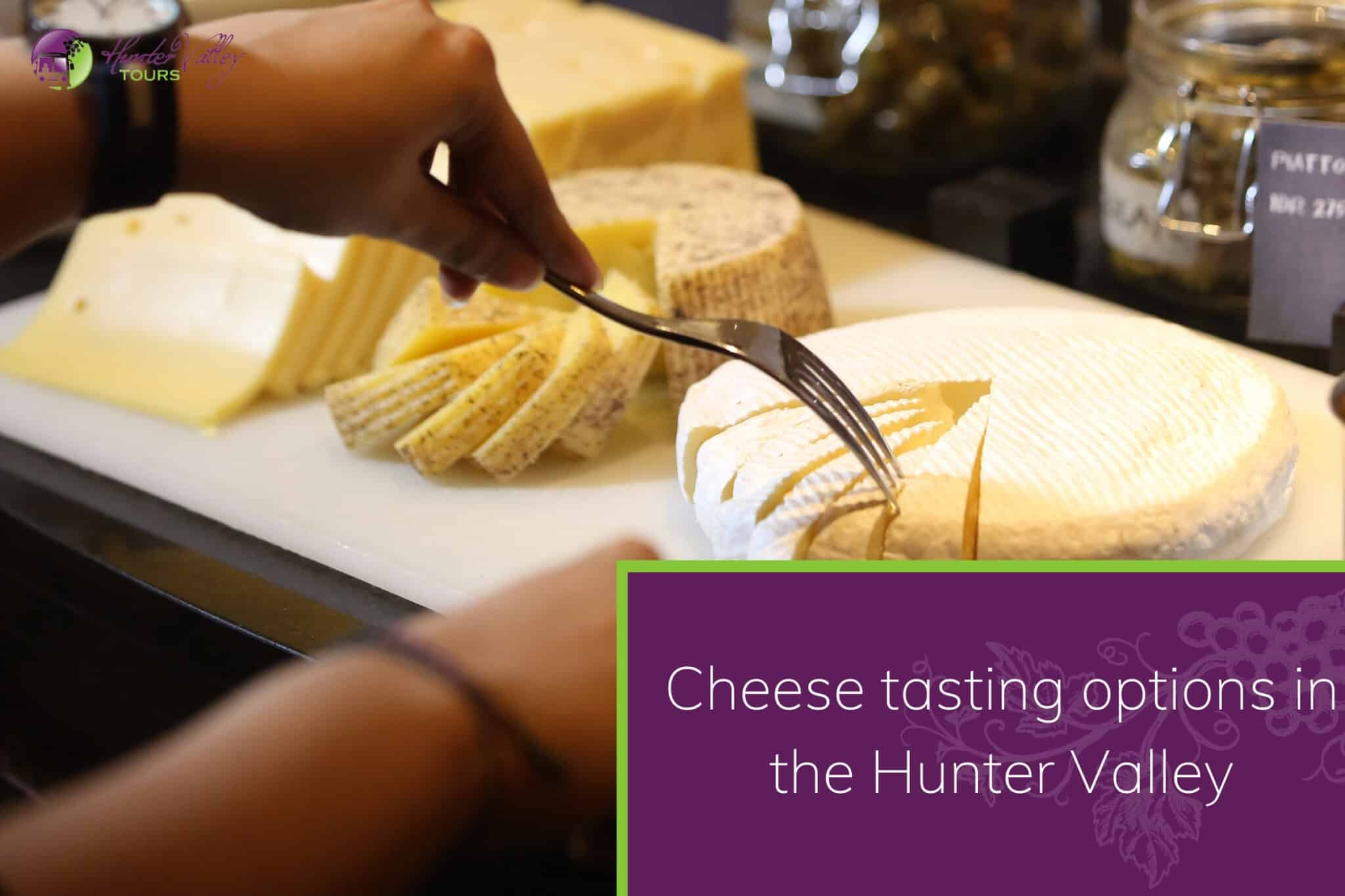 Cheese tasting options in the Hunter Valley