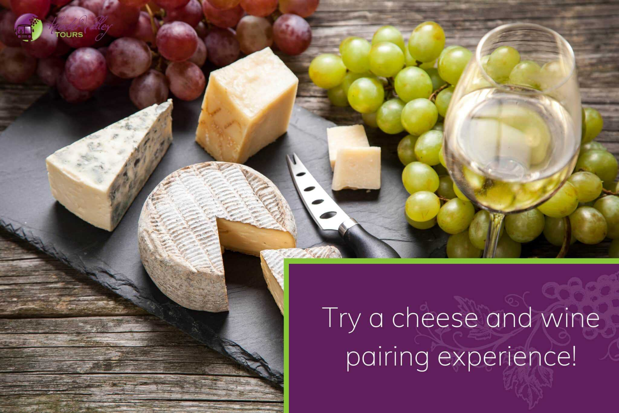 Try a cheese and wine pairing experience!