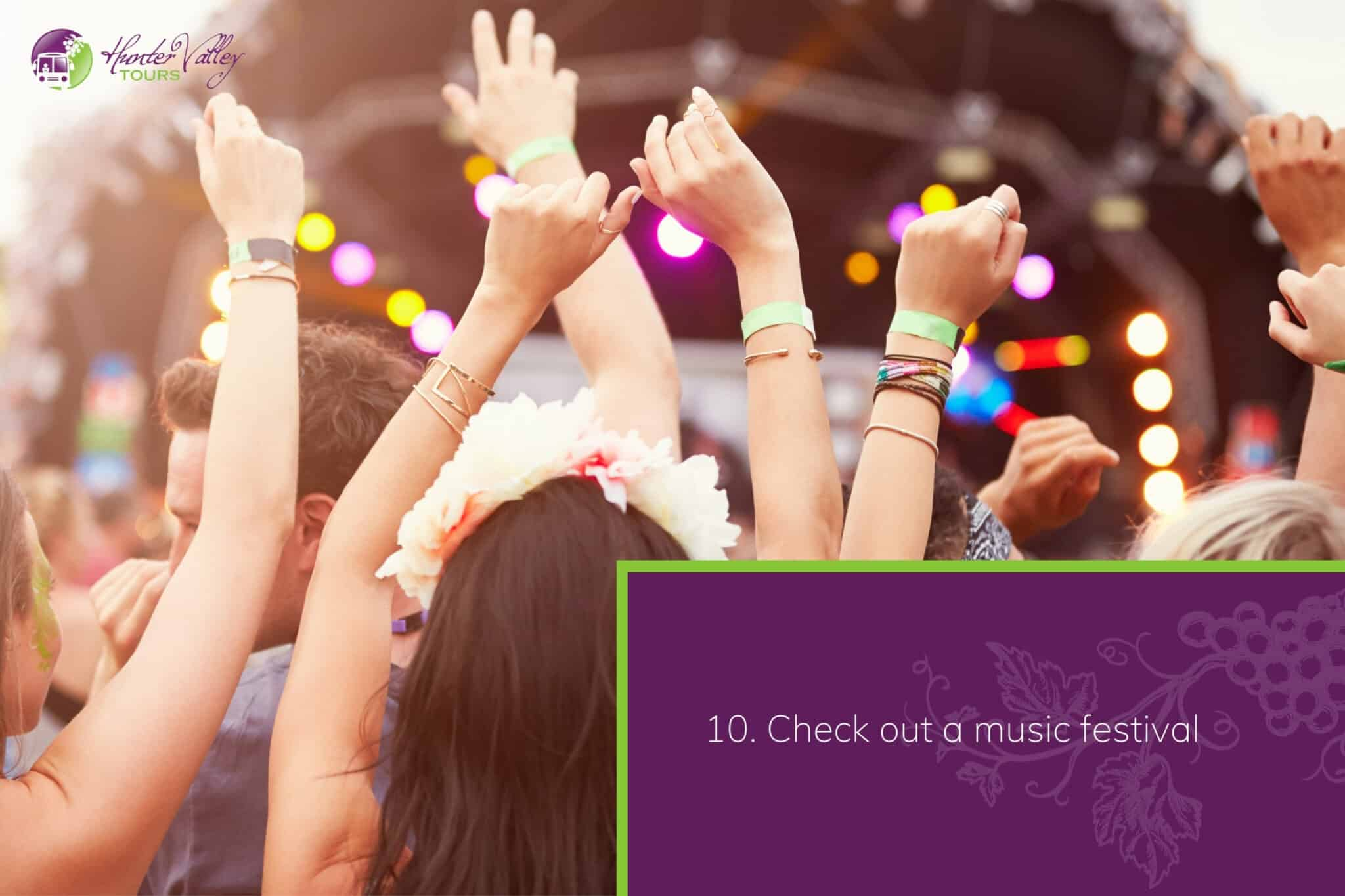 Check out a music festival